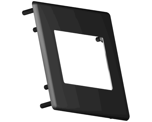 Aluminium bezel 24.5x63mm