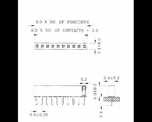 1x9 socket 2.54mm pitch EA B200-9