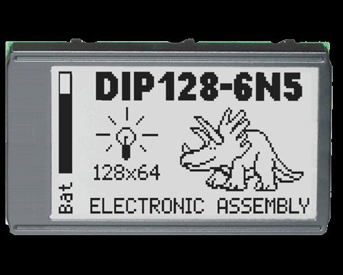 64x128 DIP Graphic Display EA DIP128J-6N5LW