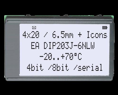 4x20 DIP Character Display