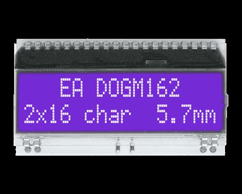 2x16 Character Display EA DOGM162B-A