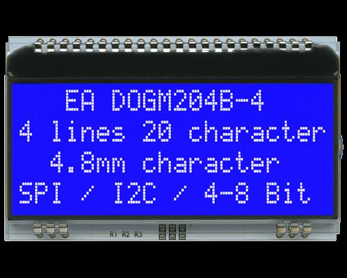 4x20 Character Display EA DOGM204B-A