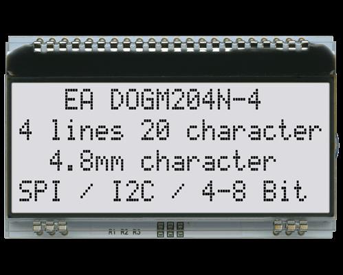 4x20 Character Display EA DOGM204N-A
