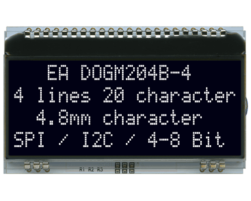 4x20 Character Display EA DOGM204S-A