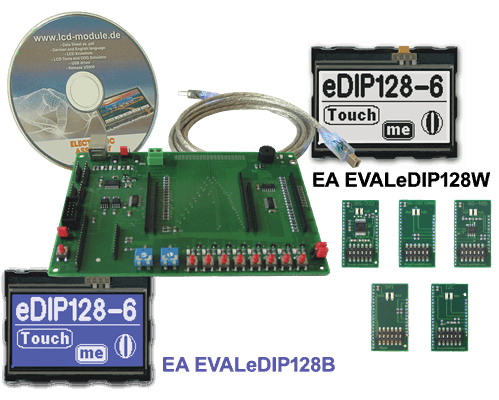 Evaluation KIT with EA eDIP128B-6LWTP