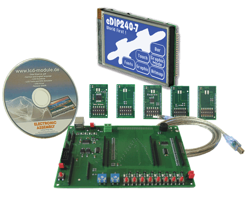 Evaluation KIT with EA eDIP240B-7LWTP