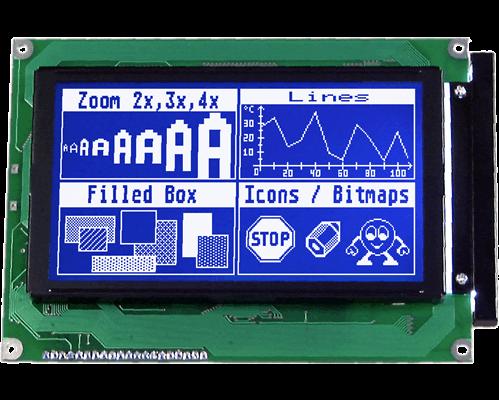 240x128 serial Graphic display EA GE240-7KLWV24