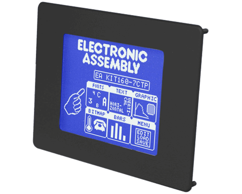 """5.1"""" Serial HMI Graphic display with touch-screen"""