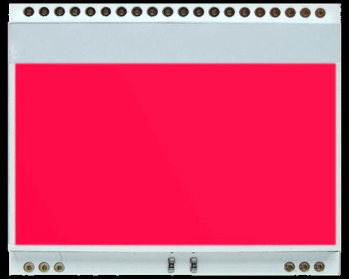 LED backlit RED for EA DOGM128-6