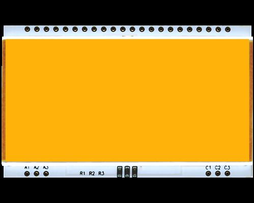 LED backlit AMBER for EA DOGM204-A