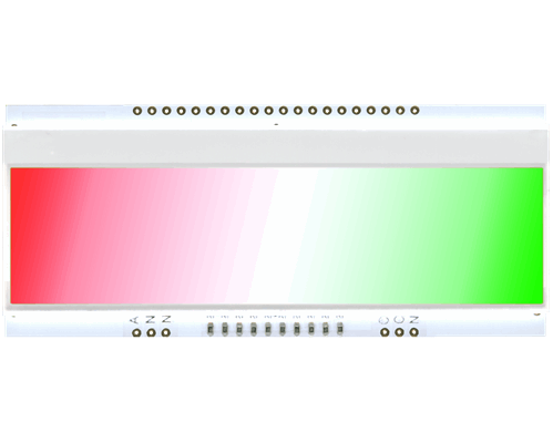 LED backlit unit (3 colours GRW) for EA DOGM240-6