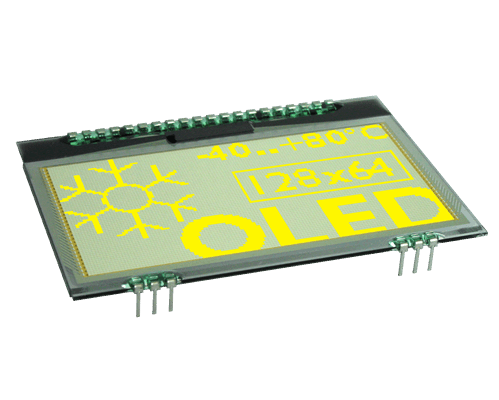 """128x64 COG OLED 2.7"""" Graphic Display with I?C, SPI"""