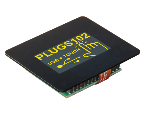 """1.7"""" Intelligent Graphic OLED Display with PCAP touch-screen, USB,  I?C and  SPI Interface"""