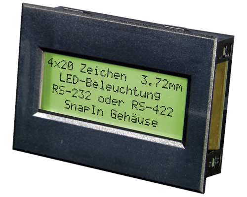 4x20 Serial text Display EA SER204-92HNLED