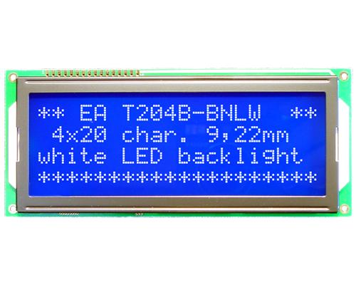 4x20 Character Display T204B-BNLW