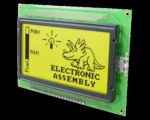 128x64 Graphic Display Green EA W128-6N2LED
