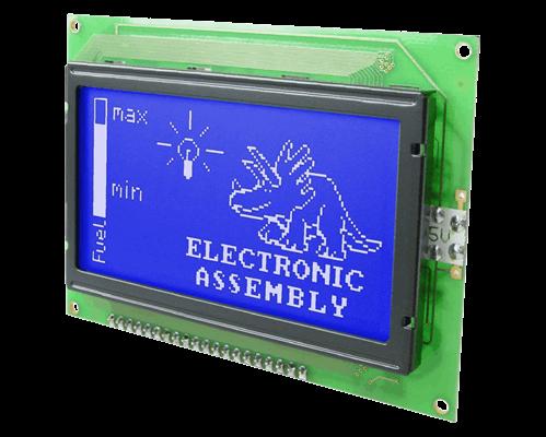 128x64 Graphic Display Blue/White EA W128B-6N2LW