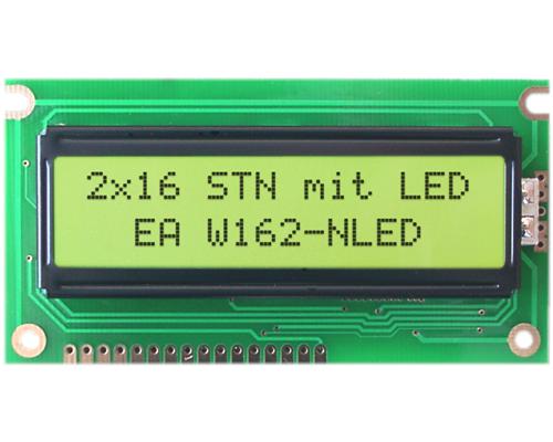 2x16 Character Display W162-N3LED