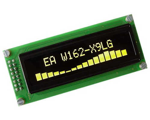 2x16 OLED Character Display with 4/8bit and SPI