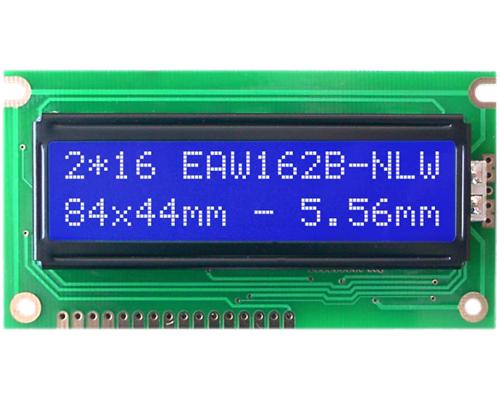 2x16 Character Display W162B-NLW