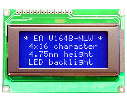 4x16 Character Display W164B-NLW