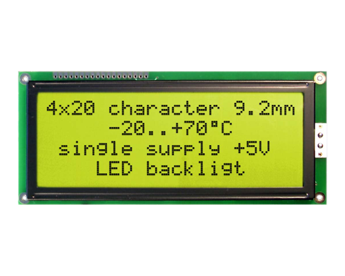 42x20 Character Display W204-BNLED