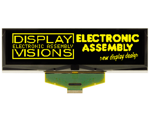 """256x64 OLED 5.5"""" Graphic Display with SPI, 8bit"""