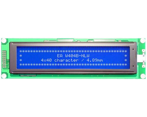 4x40 Character Display W404B-NLW