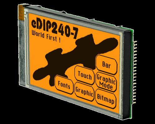 "4.2"" eDIP Intelligent Graphic Display EA EDIP240J-7LA"