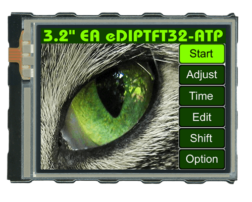 "3.2"" eDIPTFT Intelligent Graphic Display + Touch EA EDIPTFT32-ATP"