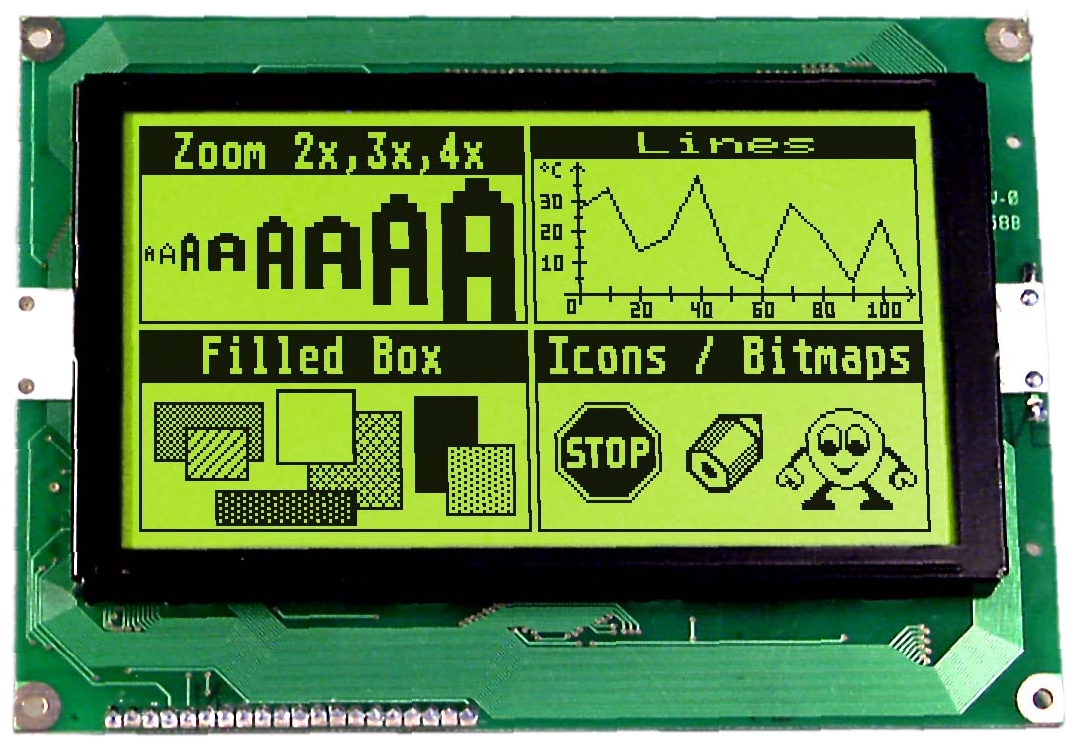 240x128 serial Graphic display EA GE240-7KV24