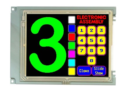 320x240 1/4 VGA Colour Graphic Display EA W320F-8LWTP + Touch