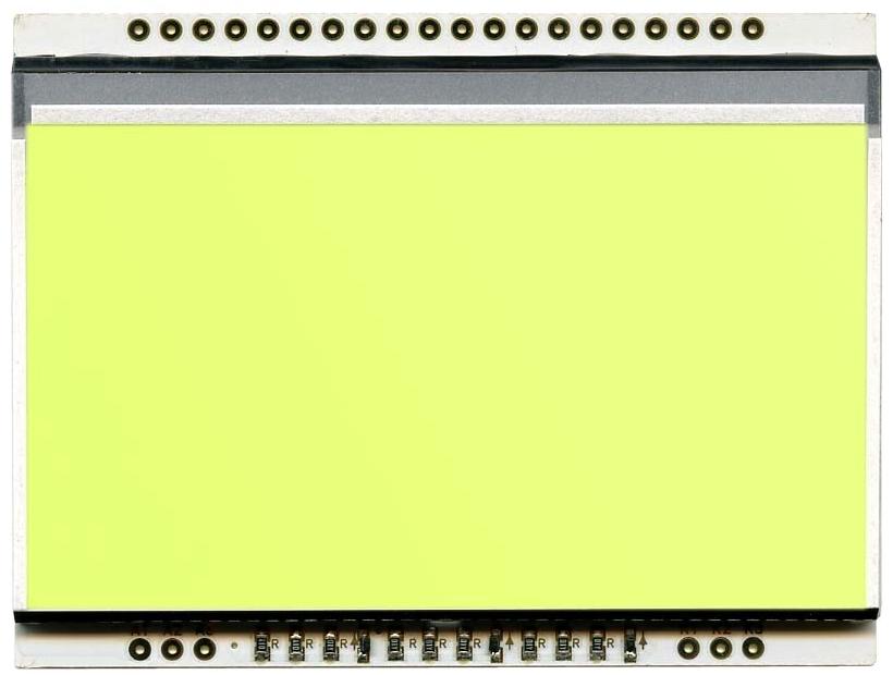 LED backlit YELLOW/GREEN unit for EA DOGL128-6