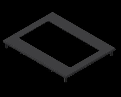 Aluminium bezel 56.97mm