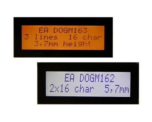 Bezel 51x15mm (1x8, 2x16, 3x16, 132x32) Antiglare MS BDOGMTXT