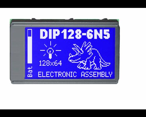 64x128 DIP Graphic Display EA DIP128-6N5LW