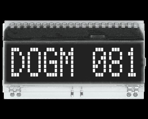 1x8 Character Display EA DOGM081S-A
