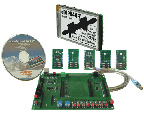 Evaluation KIT with EA eDIP240J-7LWTP