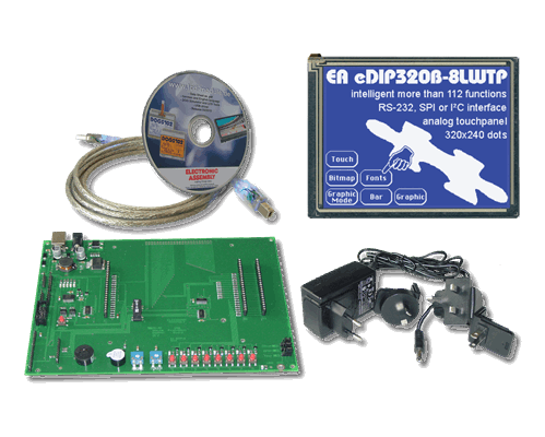 Evaluation KIT with EA eDIP320B-8LWTP