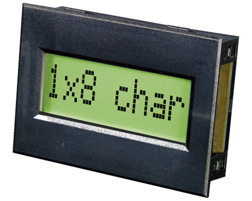 1x8 Serial text Display EA SER081-92NLED