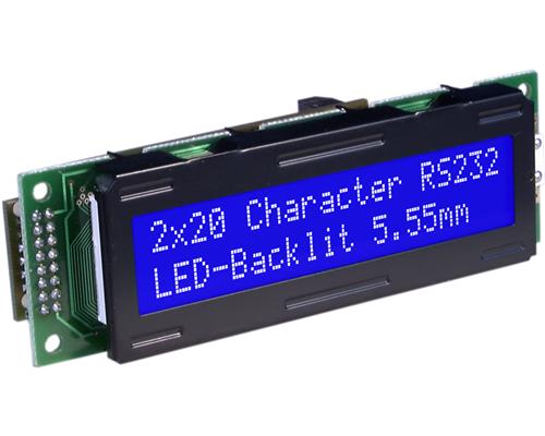 2x20 Serial text Display EA SER202-NLW