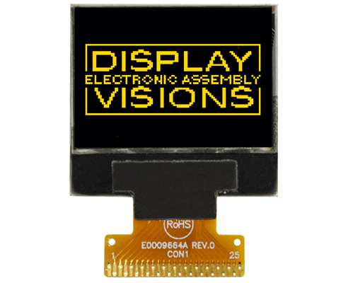 "96x64 mini OLED 0.9"" Graphic Display with I?C, SPI"