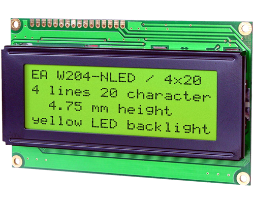 4x20 Character Display W204-NLED