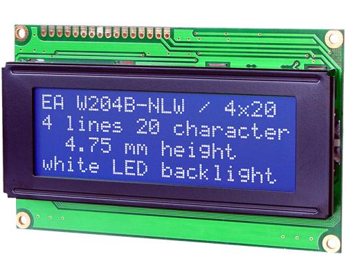 4x20 Character Display W204B-NLW