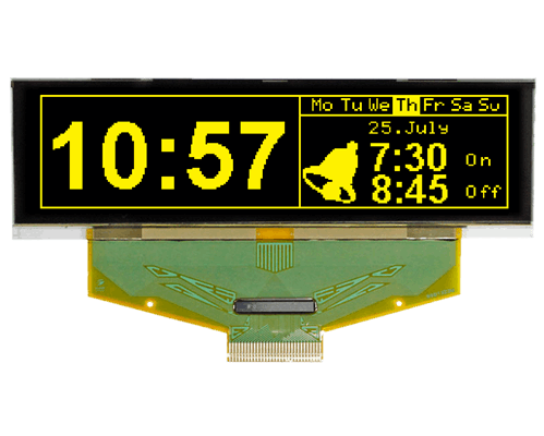 """256x64 OLED 3.1"""" Graphic Display with SPI, 8bit"""