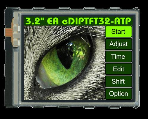 "3.2""eDIPTFT Intelligent Graphic Display EA EDIPTFT32-A"