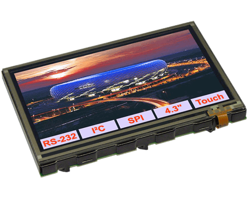 "4.3"" eDIPTFT Intelligent Graphic Display + PCAP"