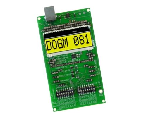EA 9780-4USB Demo & test board for the EA DOG displays