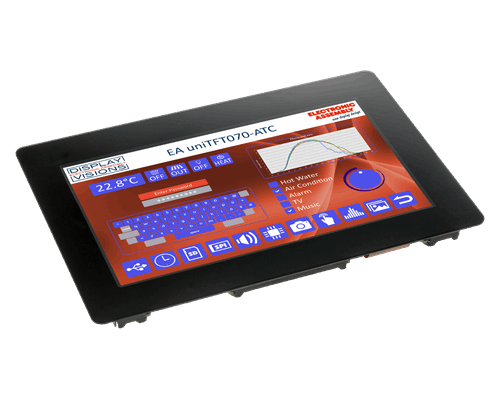 """7.0"""" uniTFT/IPS multifunctional Graphic Display + PCAP touch"""
