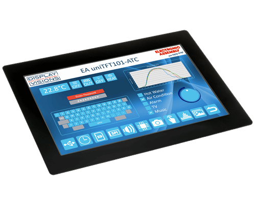"""10.1"""" uniTFT/IPS multifunctional Graphic Display + PCAP touch"""